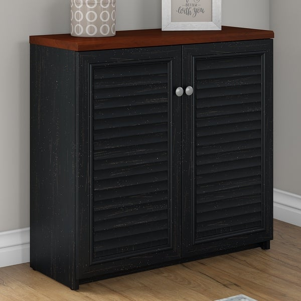 Shop Bush Furniture Fairview Small Storage Cabinet With Doors In
