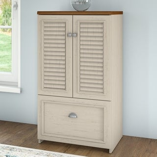 Copper Grove Samtredia 41.7-inch Antique White and Maple Cabinet with Drawer