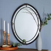 """Fibbie 28.5"""" x 36.5"""" Wall Mirror - Black - N/A"""