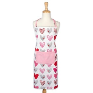 Design Imports Hearts Collage Print Chef Kitchen Apron