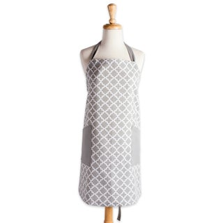 Design Imports Lattice Print 2-Pocket Kitchen Apron