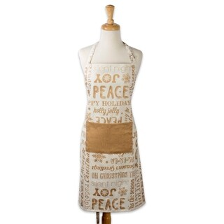 Design Imports Christmas Collage Chef Kitchen Apron