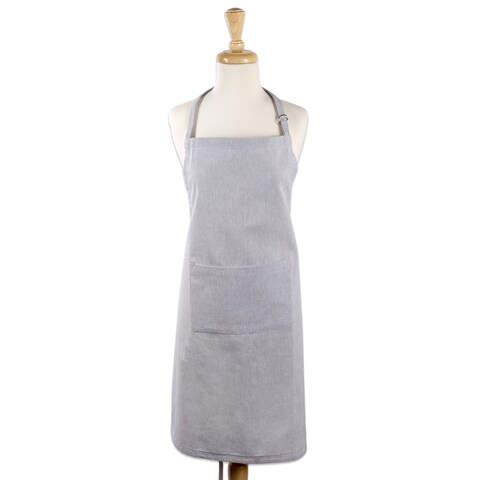 Design Imports Solid Cambray Chef Kitchen Apron