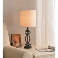 Bristol 23-inch Black with Red Highlights Table Lamp