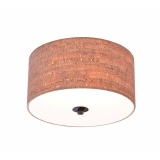 Bachman 13-inch Diameter Oil Rubbed Bronze 2 Light Flush Mount