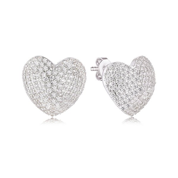 Shop White Gold Plated Crystals made by Swarovski Heart Earrings - Free  Shipping On Orders Over  45 - Overstock - 22544357 2c373b7301ef