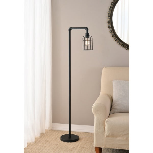 Rafi 59-inch Bronzed Graphite Arched Floor Lamp