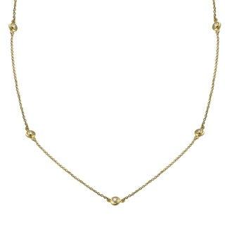 14k Yellow Gold 1 2ct TDW Diamonds Necklace 30 Inch