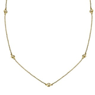 14k Yellow Gold 1/2ct TDW Diamonds By The Inch Necklace 30 Inch