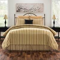 Le Mans  stripe gold and black comforter set