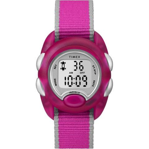 Timex Kids TW2R99000 Time Machines Digital Pink Nylon Strap Watch