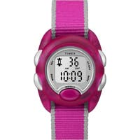 Timex Kids TW2R99000 Time Machines Digital Pink Nylon Strap Watch