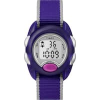 Timex Kids TW2R99100 Time Machines Digital Purple Nylon Strap Watch