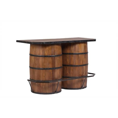 "Porter Designs Willamette Valley Double Barrel Wine Bar - 40""H x 28""W x 63.5""L"