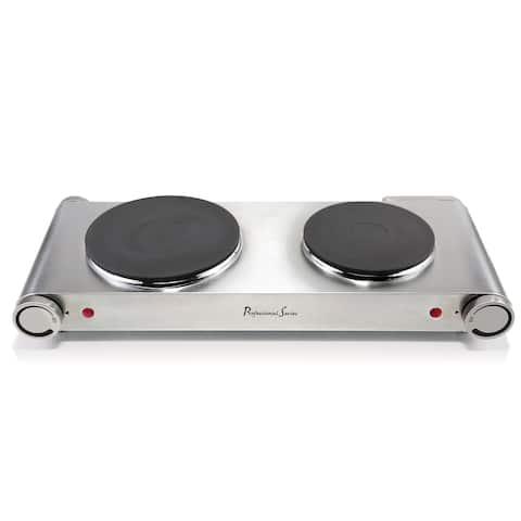 Continental Electric Portable Concealed Double Burner