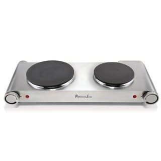 Continental Double Burner Portable Concealed Element Stainless