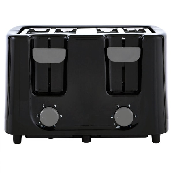 Continental Electric Cool Touch Black 4-Slice Toaster