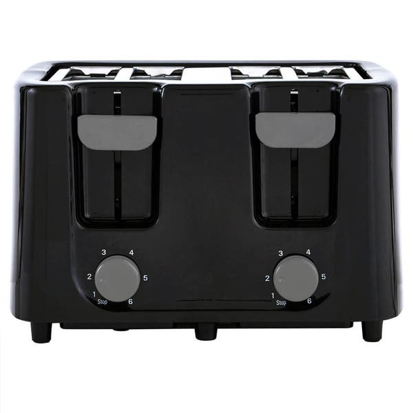 Shop Black Friday Deals On Continental Electric Cool Touch Black 4 Slice Toaster Overstock 22544892