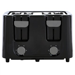 Continental Toaster 4-Slice Wide Cool Touch Black