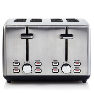 Continental Electric Pro 4-Slice Toaster Extra Wide Stainless
