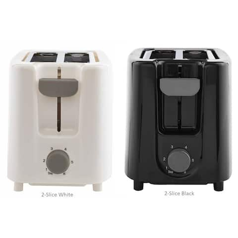 Continental Electric 2-Slice Toaster Wide Cool Touch