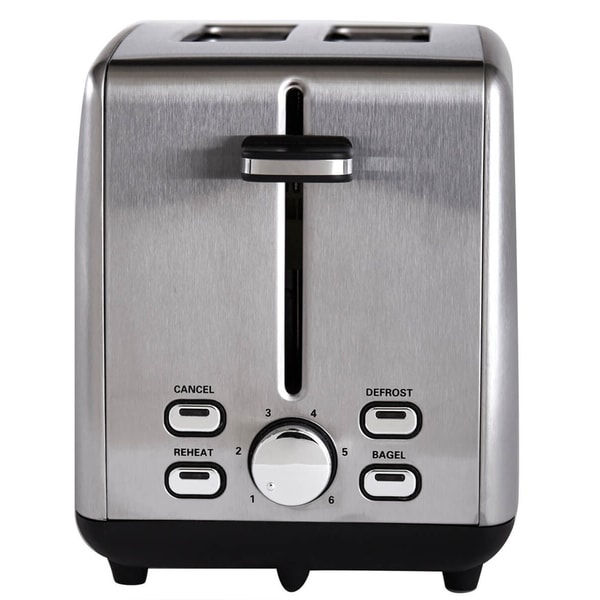 Continental Electric Pro Toaster 2-Slice Extra Wide Slot Stainless Steel