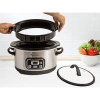 Continental Electric Pro Digital Slow Cooker 4-6 Quart Stainless