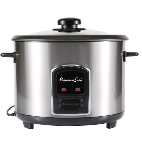 Continental Electric Pro 20-Cup Rice Cooker Non-Stick Stainless Steel
