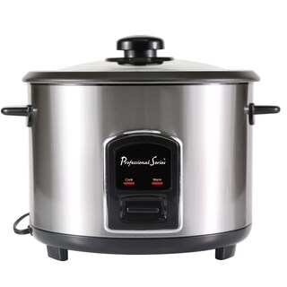Professional Series Rice Cooker 20-Cup Non-Stick Stainless Steel - N/A