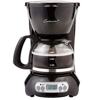 Continental Electric 4-Cup Digital Coffee Maker Black