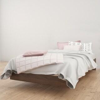 Nexera Alibi Platform Bed, Walnut