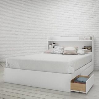 Nexera Aura Storage Bed with Headboard, White