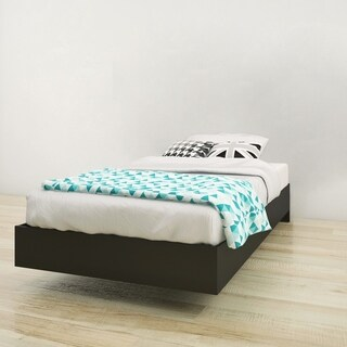 Nexera Corbo Platform Bed, Black