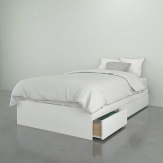 Nexera Paris 3 Drawer Storage Bed, White