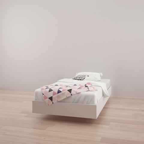 Nexera Paris Platform Bed, White