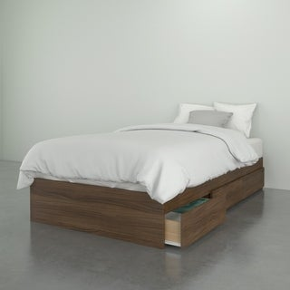 Nexera Alibi 3 Drawer Storage Bed, Walnut