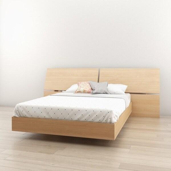 Shop Nexera Nordik Platform Bed With Panoramic Headboard