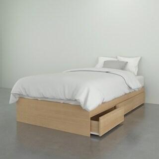 Nexera Nordik 3 Drawer Storage Bed, Natural Maple