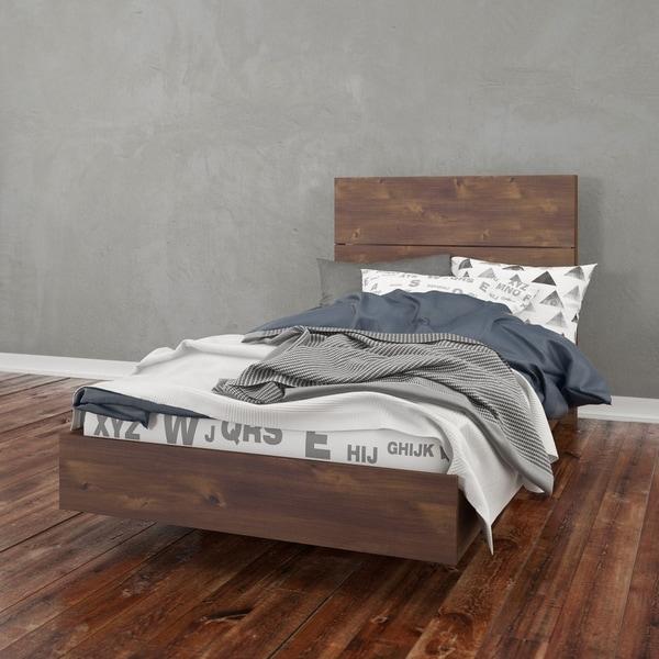 Shop Nexera Nocce Platform Bed With Headboard Truffle