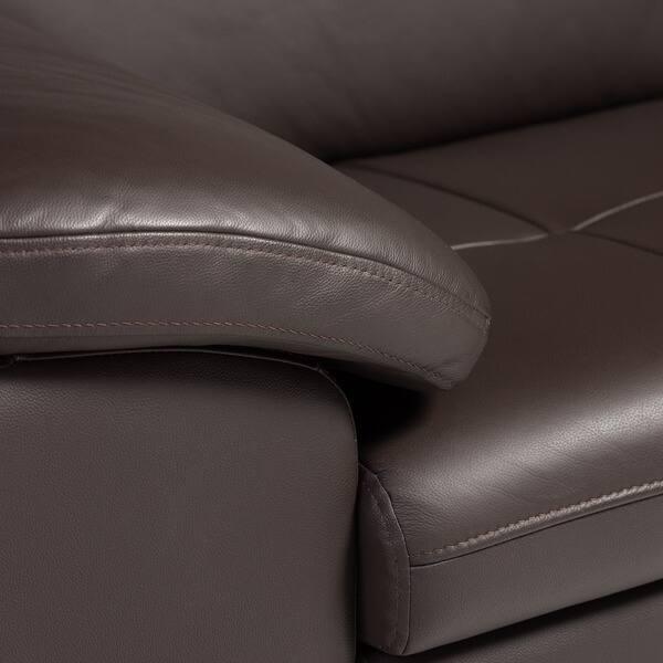 Fine Shop Diana Dark Brown Leather Sectional Sofa Set Free Beatyapartments Chair Design Images Beatyapartmentscom