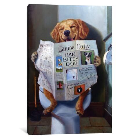 """iCanvas """"Dog Gone Funny"""" by Lucia Heffernan Canvas Print"""