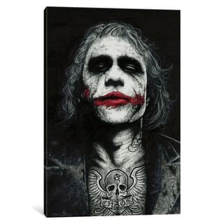 "iCanvas ""The Joker"" by Inked Ikons Canvas Print"