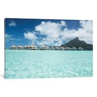 "iCanvas ""Bungalows, Bora Bora"" by Panoramic Images Canvas Print"