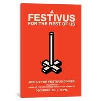 "iCanvas ""Happy Festivus Invitation Poster"" by Popate Canvas Print"