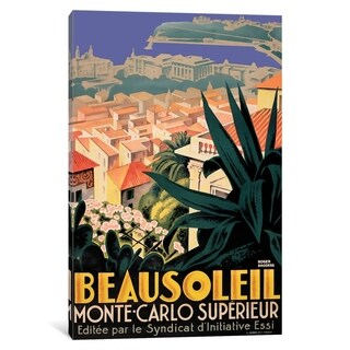 "iCanvas ""Beausoleil, Monte-Carlo"" by Vintage Apple Canvas Print"