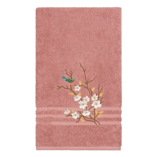 Rose Embroidered Towels: Shop Authentic Hotel And Spa Turkish Cotton Blue Bird