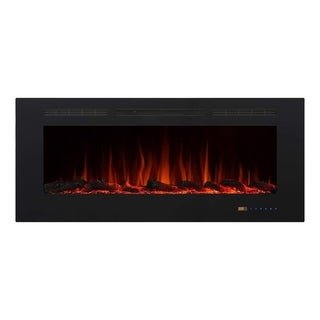 "Armanni 50"" 750W/1500W, In-Wall Recessed Electric Fireplace Heater"
