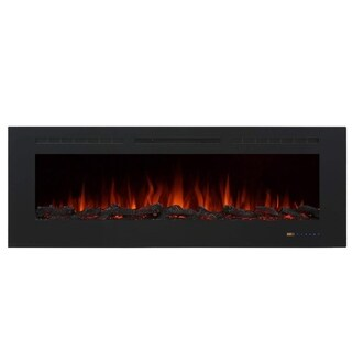 Glitzhome Recessed Wall Mounted Electric Fireplace