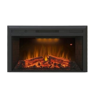 "Houselux 36"" 750W/1500W, Embedded Fireplace Electric Insert Heater - N/A"