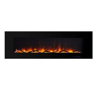 "Valuxhome 60"" 750W/1500W Wall Mounted Flat Panel Electric Fireplace - N/A"